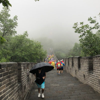 Великая Китайская стена под дождем
