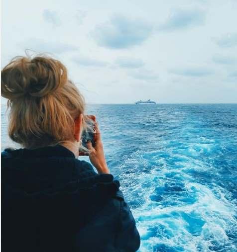 Вид с кормы лайнера