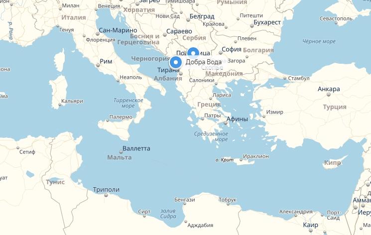 Добра вода черногория карта