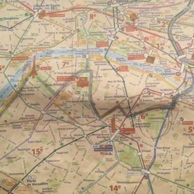 Карта - как добраться до Эйфелевой башни