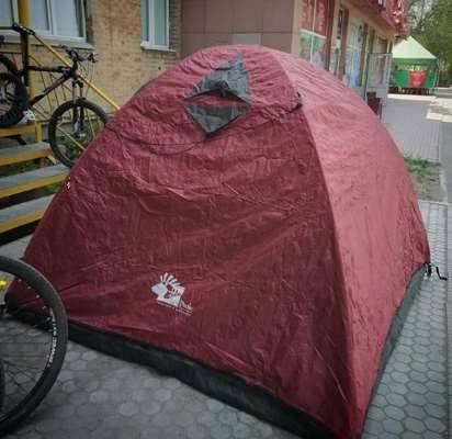 Легкая красная палатка