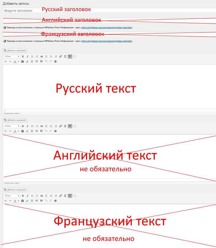 Написание статьи на русском языке