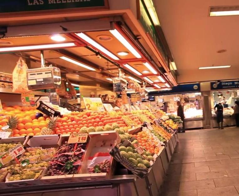 Овощи в супермаркете Испания