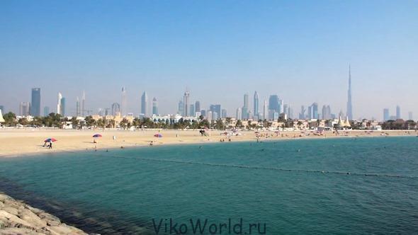 Пляж в г. Дубаи