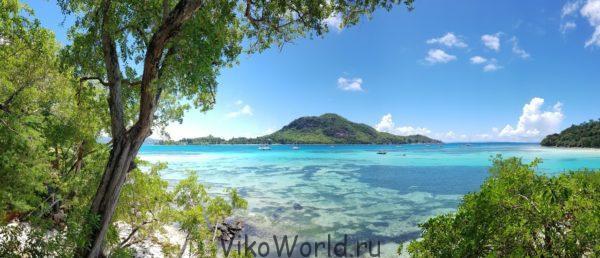 Сейшельские острова. Панорама.