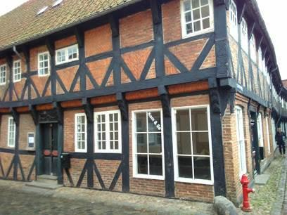 Старинный дом в Городе Рибе. Дания